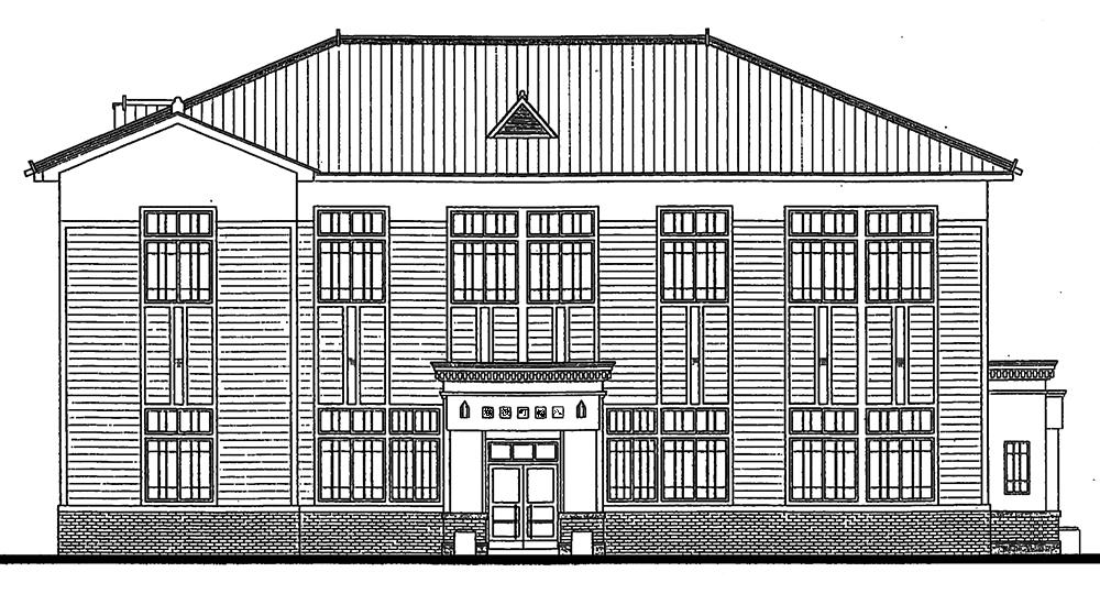 郡上八幡旧庁舎記念館立面図