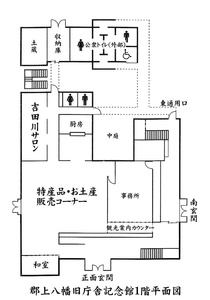 郡上八幡旧庁舎記念館1階平面図